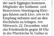 Bundeswehrreservisten transportieren Symbolik