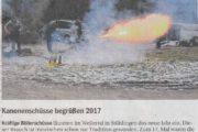 Kanonenschüsse begrüssen 2017